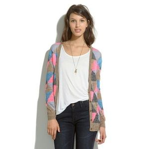 Madewell Fairweather Triangle Cardigan Sz Small